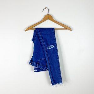 ZARA women's skinny high waist jeans dark wash